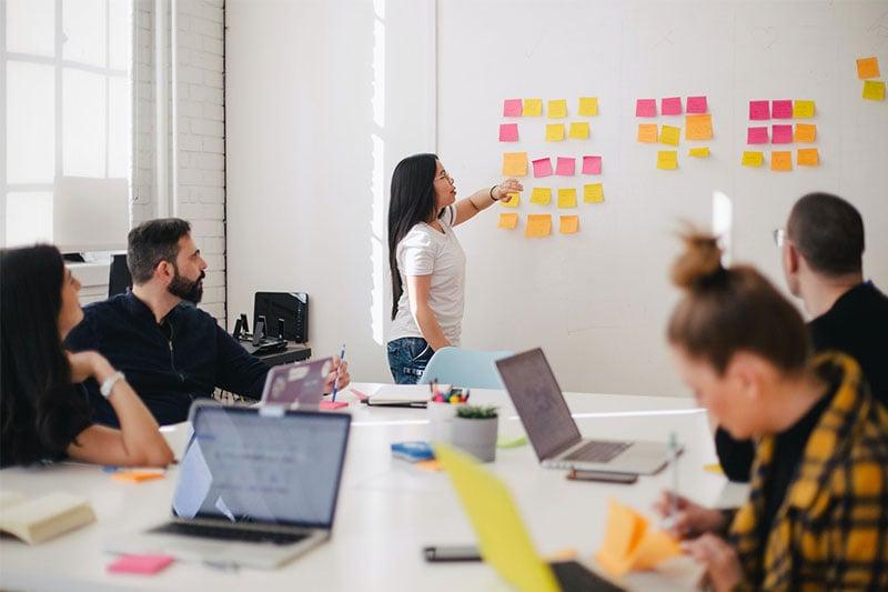 Young Entrepreneurs Brainstorming