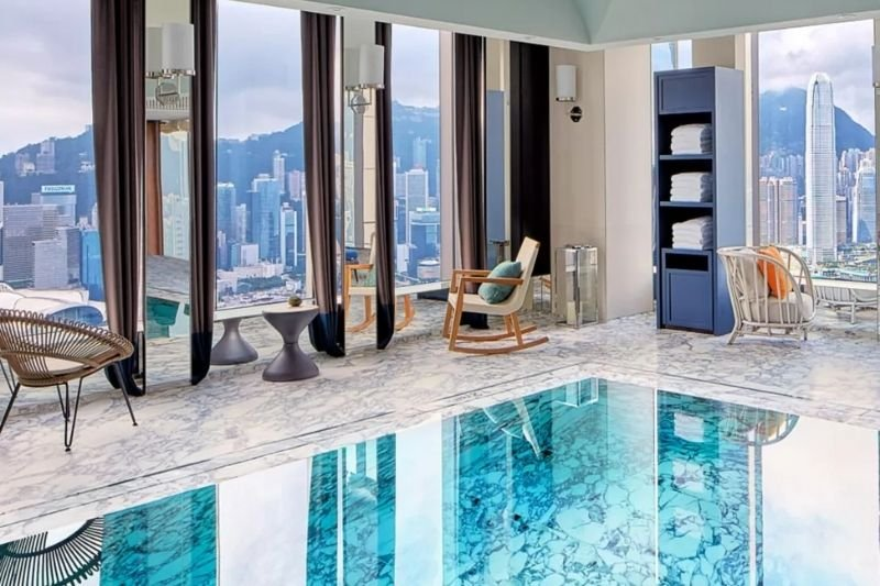 Rosewood Residences Pool_Best Serviced Apartments in Hong Kong