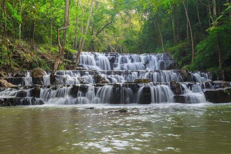 khao samlan hiking trails near bangkok thailand
